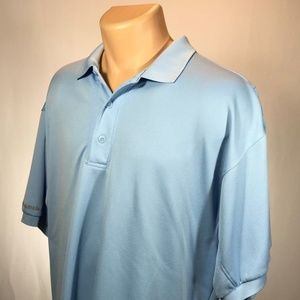 Columbia PFG Polo L Mens Shirt Size Large Blue